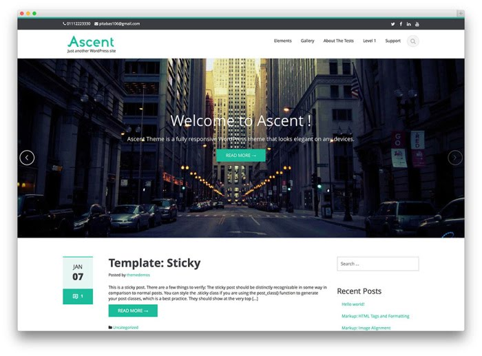 ascent free wordpress theme screenshot
