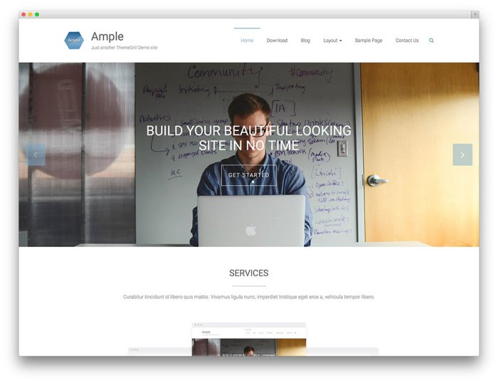 Ample free wordpress theme