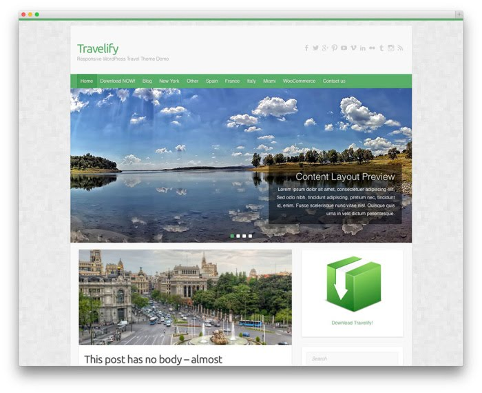 travelify free wordpress theme