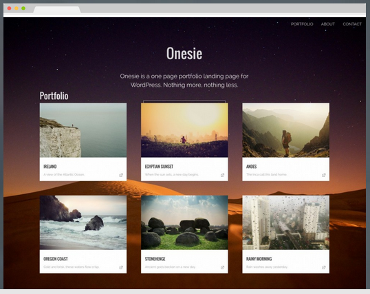 onesie free wordpress theme screenshot