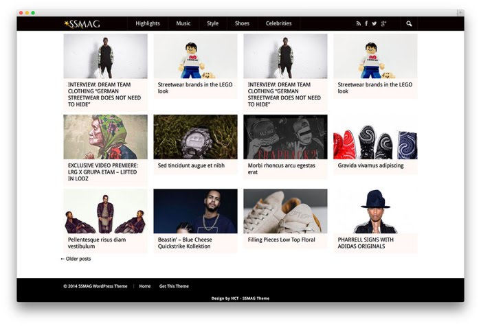 SSMAGE free wordpress theme